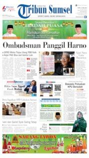 Cover Tribun Sumsel 17 Mei 2019