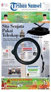 Cover Tribun Sumsel 21 Mei 2019