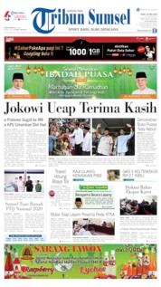 Tribun Sumsel Cover 22 May 2019