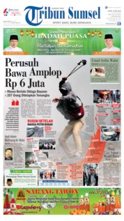 Tribun Sumsel Cover 23 May 2019