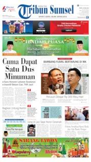 Cover Tribun Sumsel 24 Mei 2019