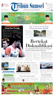 Tribun Sumsel Cover 26 May 2019