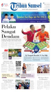 Cover Tribun Sumsel 09 Juni 2019