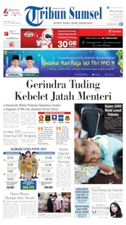 Cover Tribun Sumsel 10 Juni 2019