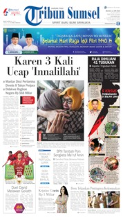 Cover Tribun Sumsel 11 Juni 2019