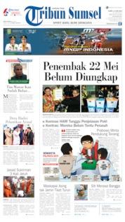 Cover Tribun Sumsel 13 Juni 2019