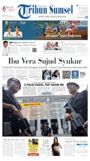 Cover Tribun Sumsel 14 Juni 2019