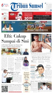 Cover Tribun Sumsel 17 Juni 2019