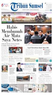 Cover Tribun Sumsel 21 Juni 2019