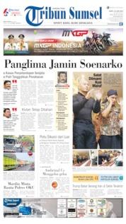 Cover Tribun Sumsel 22 Juni 2019