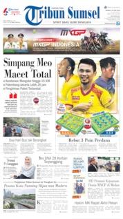 Cover Tribun Sumsel 23 Juni 2019