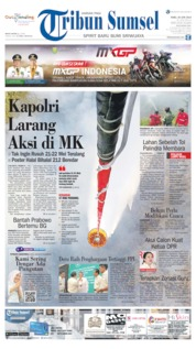 Cover Tribun Sumsel 26 Juni 2019