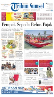 Tribun Sumsel Cover 10 July 2019