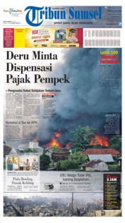 Cover Tribun Sumsel 11 Juli 2019