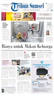 Tribun Sumsel Cover 12 July 2019