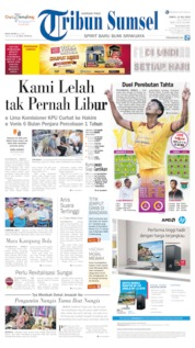 Cover Tribun Sumsel 13 Juli 2019