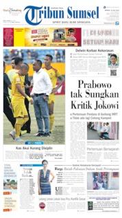 Cover Tribun Sumsel 14 Juli 2019
