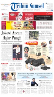 Tribun Sumsel Cover 15 July 2019