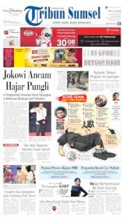 Cover Tribun Sumsel 15 Juli 2019