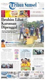 Cover Tribun Sumsel 18 Juli 2019