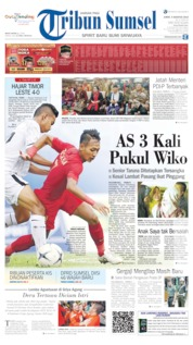 Tribun Sumsel Cover 09 August 2019