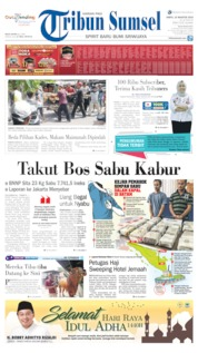 Tribun Sumsel Cover 10 August 2019