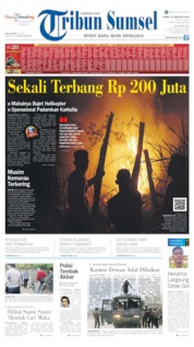Tribun Sumsel Cover 22 August 2019