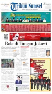 Cover Tribun Sumsel 02 September 2019