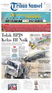 Cover Tribun Sumsel 03 September 2019