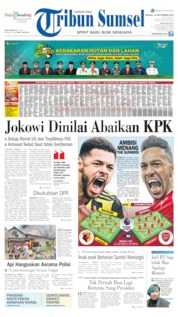 Cover Tribun Sumsel 15 September 2019
