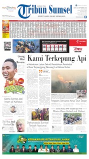 Tribun Sumsel Cover 16 September 2019