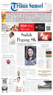 Cover Tribun Sumsel 23 September 2019