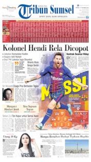 Cover Tribun Sumsel 13 Oktober 2019