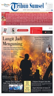 Tribun Sumsel Cover 14 October 2019