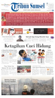 Cover Tribun Sumsel 16 Oktober 2019