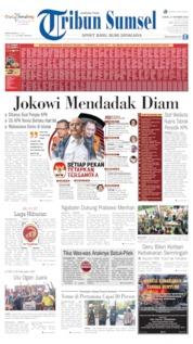 Cover Tribun Sumsel 17 Oktober 2019