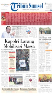 Tribun Sumsel Cover 18 October 2019