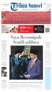 Tribun Sumsel Cover 21 October 2019