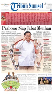 Tribun Sumsel Cover 22 October 2019
