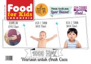 Food For Kids Indonesia Magazine Cover January 2016