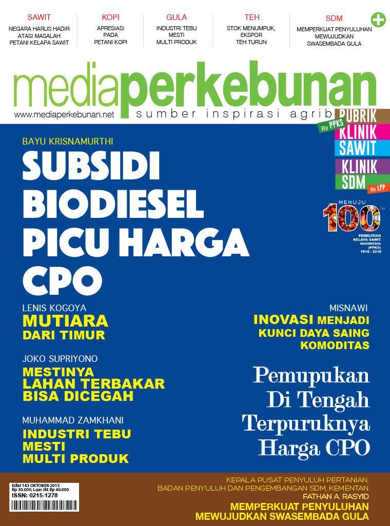 Majalah Digital media perkebunan ED 143 Oktober 2015