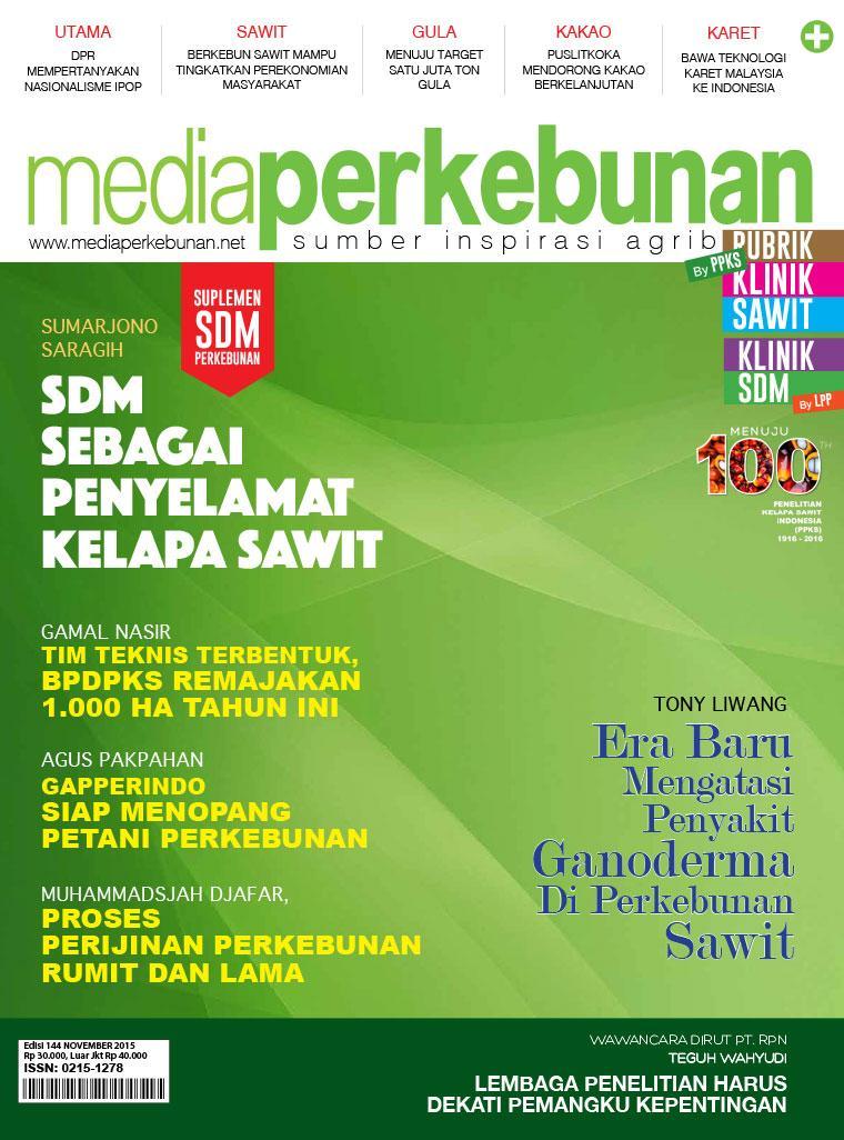 Majalah Digital media perkebunan ED 144 November 2015