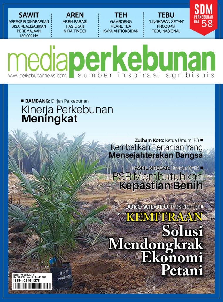 Majalah Digital media perkebunan ED 176 Juli 2018
