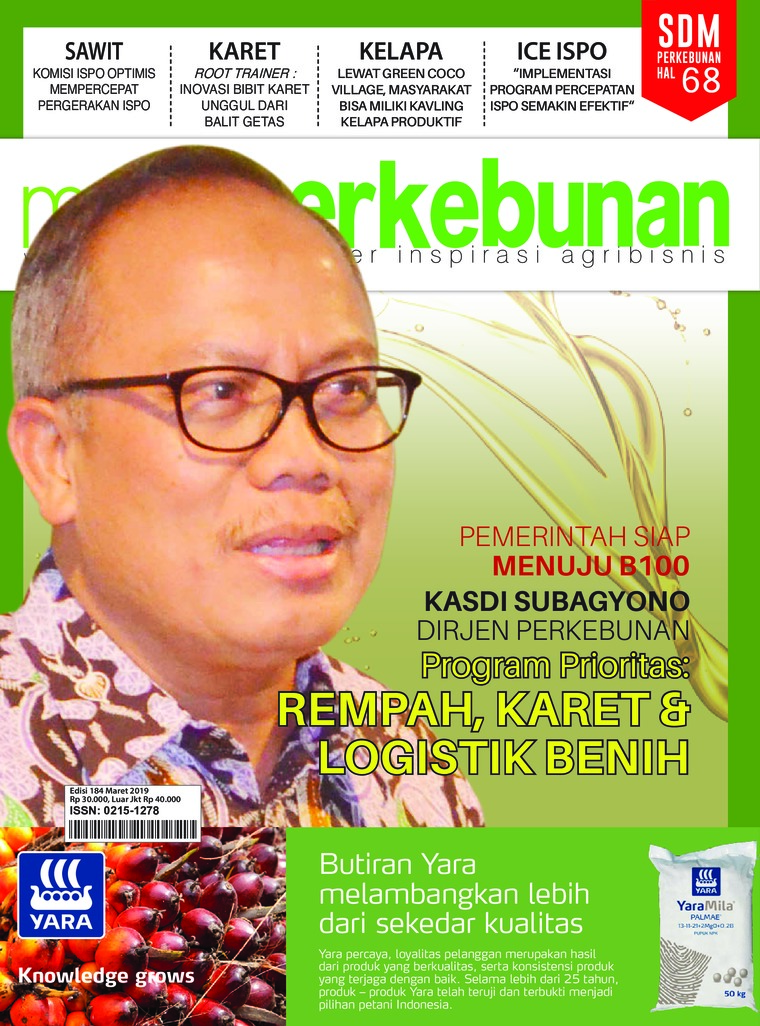Media perkebunan Digital Magazine ED 184 March 2019