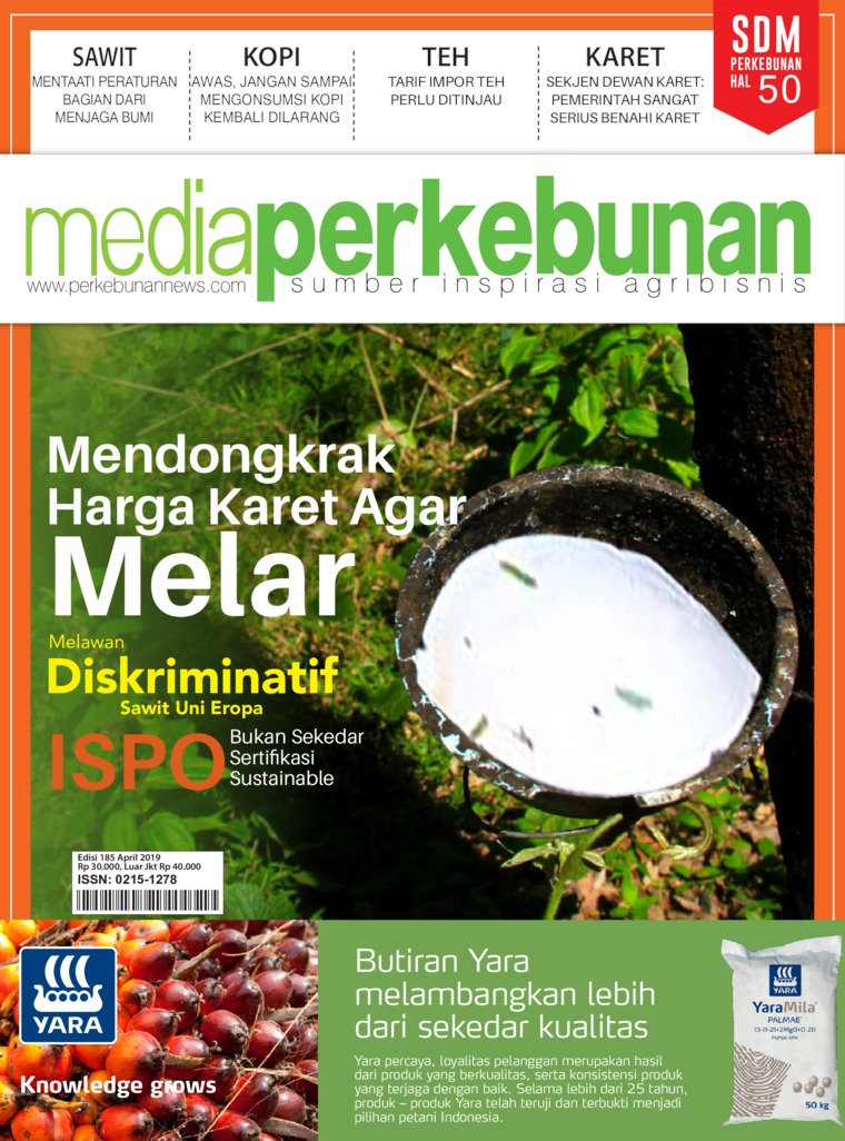 Media perkebunan Digital Magazine ED 185 April 2019