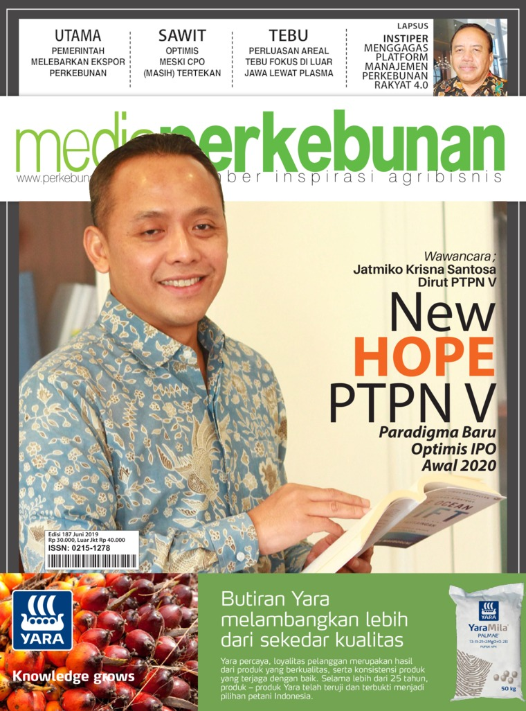 Media perkebunan Digital Magazine ED 187 June 2019