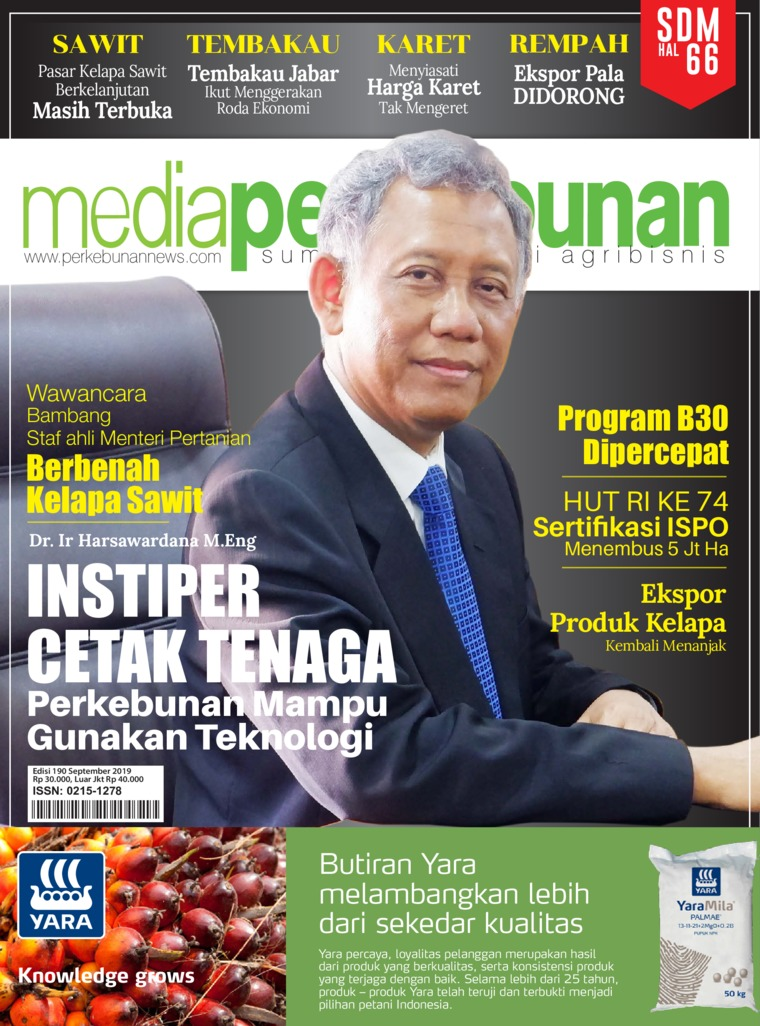 Media perkebunan Digital Magazine ED 190 September 2019