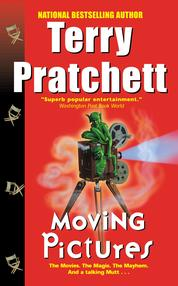 Cover Moving Pictures oleh Terry Pratchett