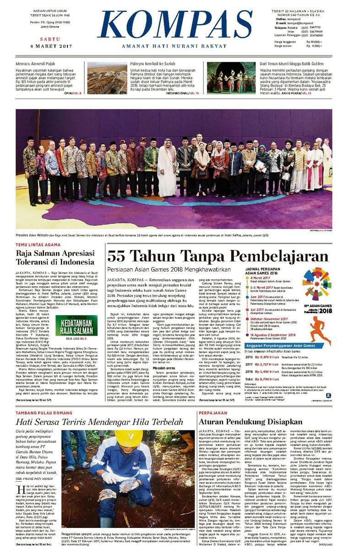 Koran Digital KOMPAS [Pagi] 04 Maret 2017