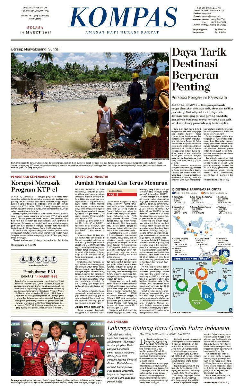 Koran Digital KOMPAS [Pagi] 14 Maret 2017